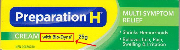 Preparation H with Biodyne